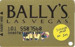 Bally´s Casino Las Vegas, NV Slot Card - Silver MVP With No SM - Casino Cards