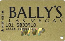 Bally´s Casino Las Vegas, NV Slot Card - CPICA 25400 Over Mag Stripe - Casino Cards