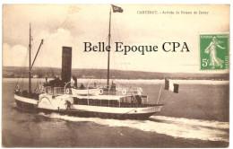 50 - CARTERET - Arrivée Du Bâteau De Jersey +++ Sans éditeur +++++ 1913 +++ RARE - Carteret