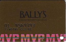 Bally´s Casino Las Vegas, NV MVP Slot Card - 94 Over Mag Stripe - Casino Cards