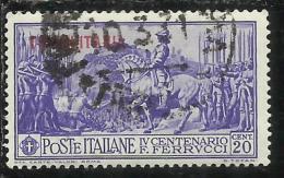 TRIPOLITANIA 1930 FERRUCCI CENT. 20 C USATO USED OBLITERE' - Tripolitania