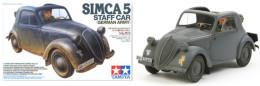 Simca 5 Staff Car German Army  1/35 ( Tamiya ) - Military Vehicles