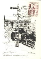 Cerfontaine - La Gare , Désaffécté Et Transformée En Musée, Dessin De P. Meeuwig, -1975 ( Voir Oblitération ) - Cerfontaine