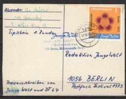 DDR    Spendenmarke  1  Auf  Postkarte - [6] République Démocratique