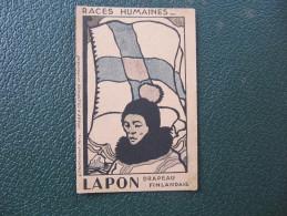 Carte Pub PHOSPHATINE - LAPON - DRAPEAU FINLANDE - (Image à Coloriage Instantané) - Europe
