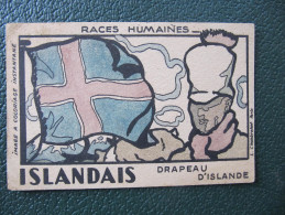 Carte Pub PHOSPHATINE - ISLANDAIS - DRAPEAU ISLANDE - (Image à Coloriage Instantané) - Europe