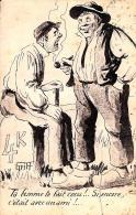 [DC2956] CPA - HUMOR - ILLUSTRAZIONE DI GRITT - Viaggiata - Old Postcard - Humor