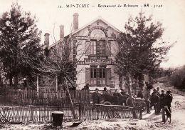X33105 Peu Commun MONTCHIC Titre Fauté MOUTCHIC Gironde Café RESTAURANT ROBINSON Etang Lacanau Médoc 1920s BLOC 12 - Other Municipalities