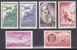Monaco PA N° 2 à 7 Charnière (Hinged) - Cote 9.60 Euros - Prix De Départ 1 Euro - Poste Aérienne