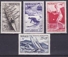 Monaco PA N° 32 à 35 1ere Charnière Tres Propre (Hinged) - Cote 63.50 Euros - Prix De Départ 15 Euros - Poste Aérienne