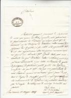 1849 REPUBBLICA ROMANA Lettera Da SAN SEVERINO MARCHE Timbro OVALE DISTRIBUZIONE DI SAN SEVERINO Su Problemi POSTA-e727 - Italia