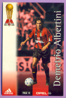 Cartolina Milan, Edizione 1999-2000 Del Centenario - Demetrio Albertini - Football