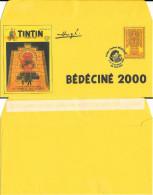 BEDECINE 2000 ILLZACH  Enveloppe Luxe Soleil + Timbre FIctif + Cachet MEYNET TINTIN HERGE KUIFJE TIM COMICS BD Inca - Fumetti