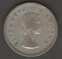 SUD AFRICA 2 SHILLINGS 1958 AG SILVER - Sud Africa