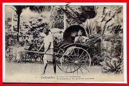 ASIE - CEYLON  - SRI LANKA - Colombo -- Promenade En Pousse Pousse - Yemen