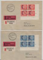 1959 CONFERENCE EUROPEENNE DES PTT REUNION CONSTITUTIVE - MONTREAUX - 22.VI.1959 - FDC 4er Block (245) - FDC