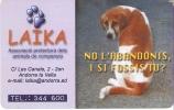 AND-128 TARJETA DE ANDORRA DE LAIKA (PERRO-CAN-DOG) - Andorra