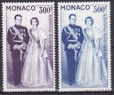 Monaco PA N° 71 Et 72 1ere Charnière Très Propre (Hinged) - Cote 26 Euros - Prix De Départ 6 Euros - Poste Aérienne