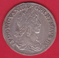 France Louis XIII - 1/4 Ecu 1642A - Argent - TTB - 987-1789 Royal