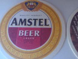 RARE VINTAGE STYLE AMSTEL BEER PAD 2 PIECES SET - Beer Mats