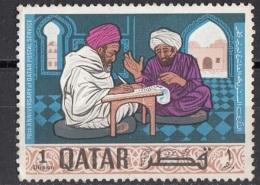 127 Qatar 1968 Professional Letter Writer - Scrivani - Nuovo MNH - Qatar