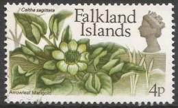 Falkland Islands. 1972 QEII. Flowers. Decimal Currency. 4p Used. SG 282 - Falkland Islands
