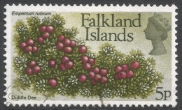 Falkland Islands. 1972 QEII. Flowers. Decimal Currency. 5p Used. SG 283 - Falkland