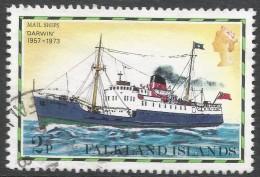 Falkland Islands. 1978 Mail Ships. 2p Used. No Date Imprint. SG 332A - Falkland Islands