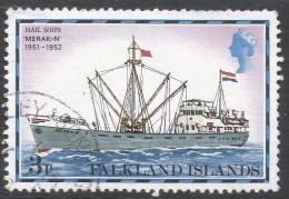 Falkland Islands. 1978 Mail Ships. 3p Used. No Date Imprint. SG 333A - Falkland Islands