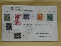 Brief 12 : 1940 Deutsche Besatzungsausgaben Luxemburg MiNr17/32 Komplett Auf 3 Briefen - Besetzungen 1938-45