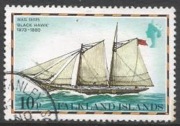 Falkland Islands. 1978 Mail Ships. 10p Used. No Date Imprint. SG 340A - Falkland Islands