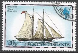 Falkland Islands. 1978 Mail Ships. 20p Used. No Date Imprint. SG 341A - Falkland Islands