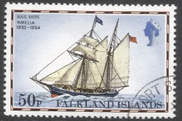 Falkland Islands. 1978 Mail Ships. 50p Used. No Date Imprint. SG 343A - Falkland Islands