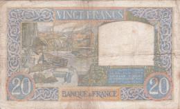 FRANCE - BILLET DE 20 FRANC -  1940 - 1871-1952 Anciens Francs Circulés Au XXème