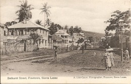 AFRIQUE SIERRA LEONE FREETOWN - BATHURST STREET Vers 1920 - Sierra Leone