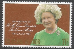 Falkland Islands. 1980 80th Birthday Of The Queen Mother. 11p MH. SG 383 - Falkland Islands