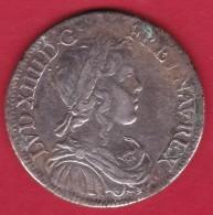 France - Louis XIIII - 1/2 Ecu Argent 1648 A - 987-1789 Royal