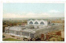 Bird´s Eye View, Pennsylvania Station- NEW YORK CITY   ( Amerique ) - Transports