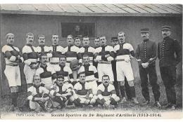 CPA.   . TARBES . SOCIETE SPORTIVE DU 24° REGIMENT D'ARTILLERIE...1913/14....TBE...SCAN.. - Tarbes