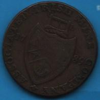 Cronebane Wicklow Lodge Irish Mine Co. Bishop Blaze Halfpenny 1789  TOKEN - Monetary/Of Necessity