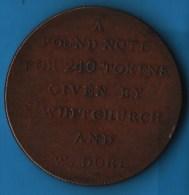 WHITCHURCH & DORE BATH PENNY  TOKEN 1811 - Monetary/Of Necessity