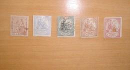 Edifil  132,145,146,147,151T,1º,2º, 3º Nuevos Sin Goma,el 1º ,2º Reparado,2º Matasellado. - 1873 1ª República