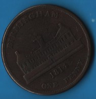 WARWICKSHIRE Birmingham Workhouse ONE PENNY 1814 TOKEN - Monetary/Of Necessity