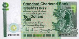HONG KONG 10 DOLLARS 1989 B401e (P278b) UNC RARE DATE - Hong Kong