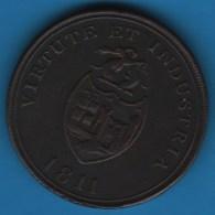 BRISTOL BRASS & COPPER Co  PENNY TOKEN 1811 PAYABLE AT BRISTOL SWANSEA & LONDON - Monetary/Of Necessity