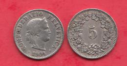 Suisse 5 Rappen 1904 Dans L ´état - Svizzera