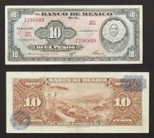 Mexique, 10 Pesos, Type Tehuana, 17 Fèvrier 1965, Alphabet Z236809 - Mexico