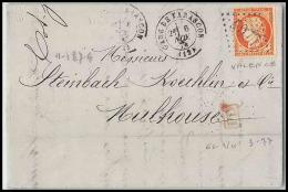 LETTRE-3235-Bouches Du Rhone- N°38 Cères Gare De Tarascon Gc 4077 Pour Mulhouse - Marcophilie (Lettres)