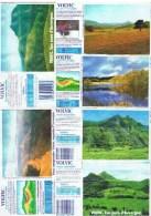 ETIQUETTES-EAU VOLVIC-PAYSAGES D'AUVERGNE-2 SCANS- - Etiketten