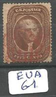 EUA Scott  30 Type II Signed Red Cancel YT 12 # - Used Stamps